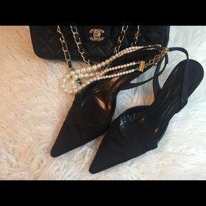 ANN TAYLOR Kitten Heels Peau de Soie Style Shoes